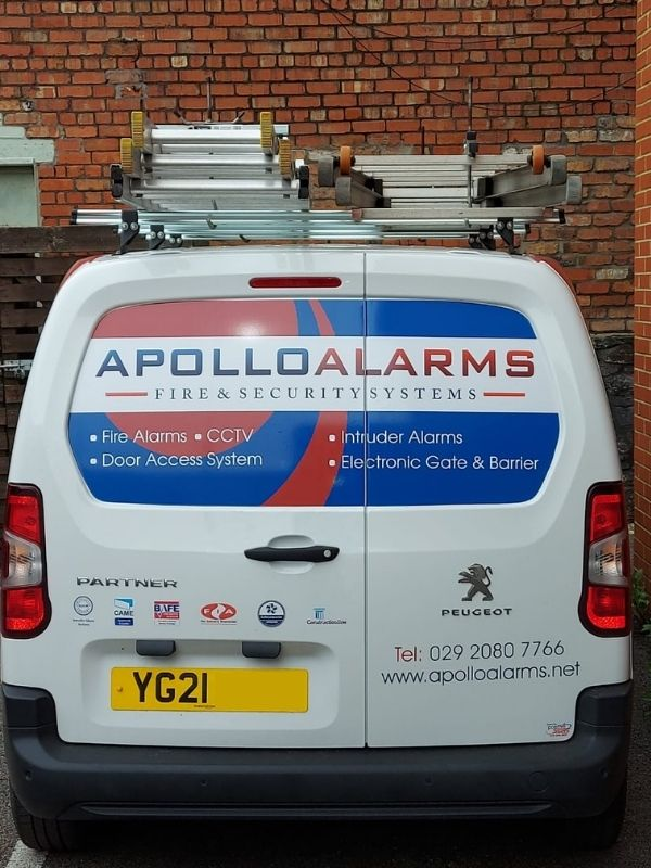 Apollo Alarms Van - Cardiff Fire & Security Systems, Intruder Alarms, Door Access Control, Electronic Gates and Barriers
